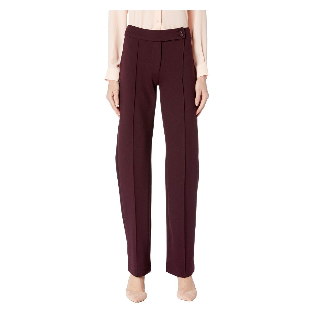 リバプール Liverpool レディース ボトムス・パンツ【Ingrid Trousers Extended Tab in Super Stretch Ponte Knit】Aubergine