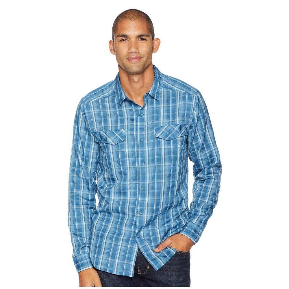 ロイヤルロビンズ Royal Robbins メンズ トップス シャツ【Bug Barrier Ultra Light Long Sleeve Shirt】Blue Stone