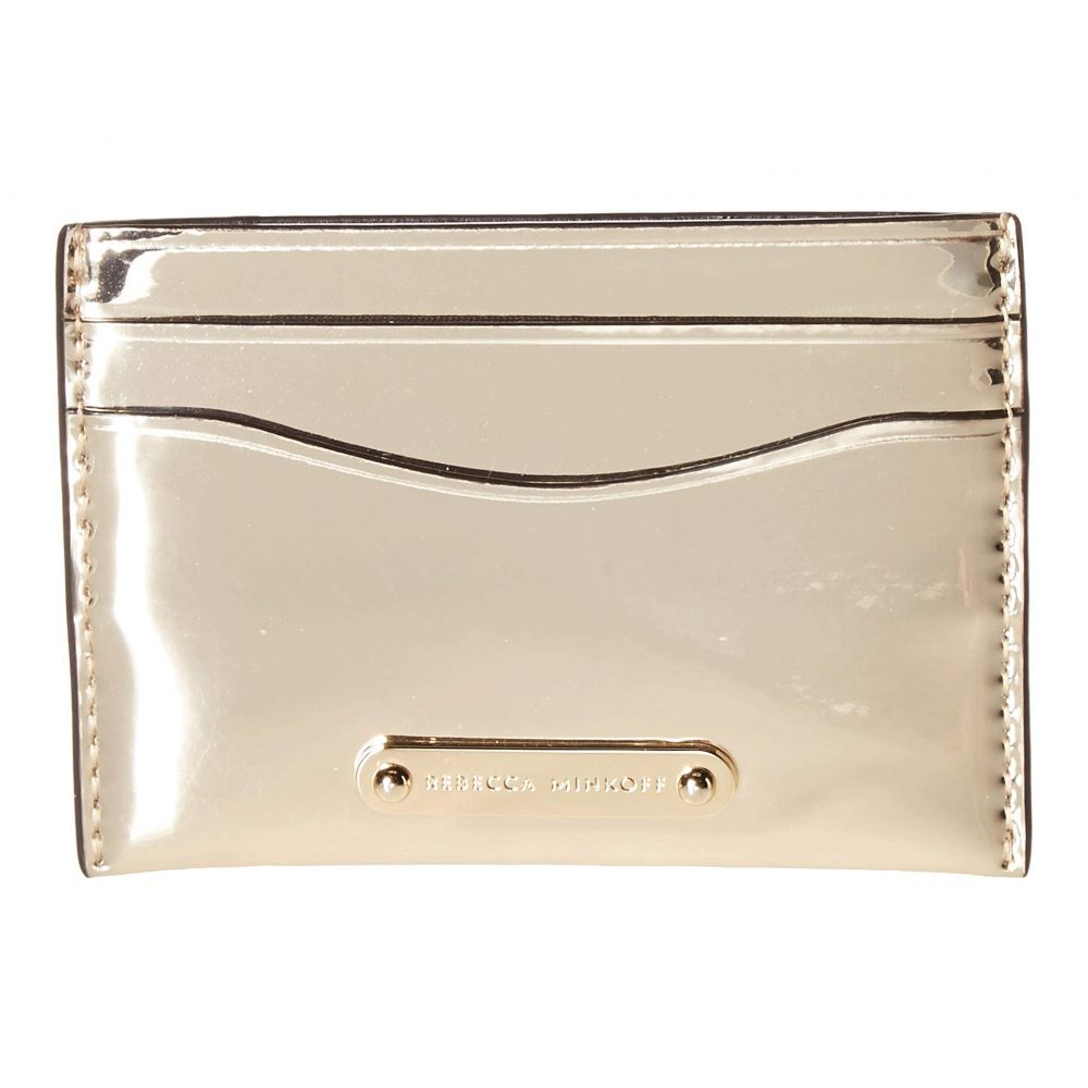レベッカ ミンコフ Rebecca Minkoff レディース カードケース・名刺入れ【Card Case】Gold