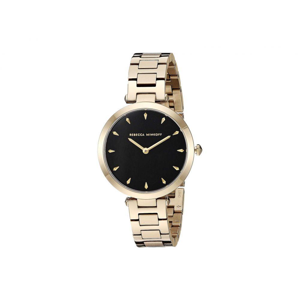 レベッカ ミンコフ Rebecca Minkoff レディース 腕時計【T-Bar - 2200277】Black/Gold