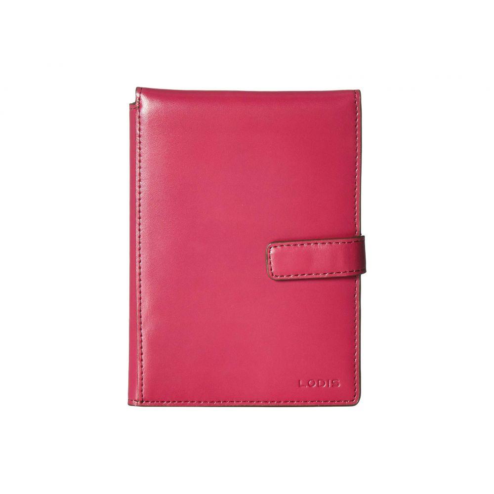 ロディス アクセサリー Lodis Accessories レディース パスポートケース【Audrey Passport Wallet w/ Ticket Flap】Berry/Avocado
