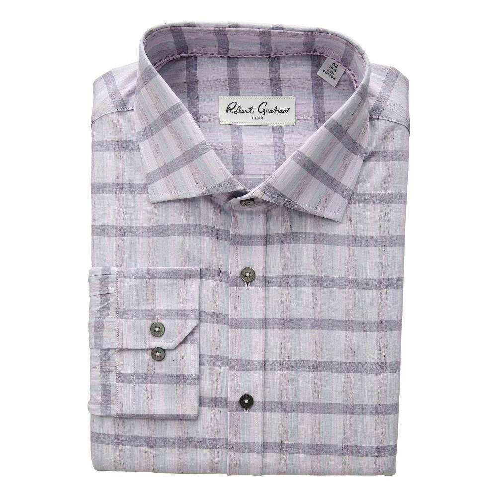 ロバートグラハム Robert Graham メンズ トップス シャツ【Sonnie - Plaid Dress Shirt】Lavender