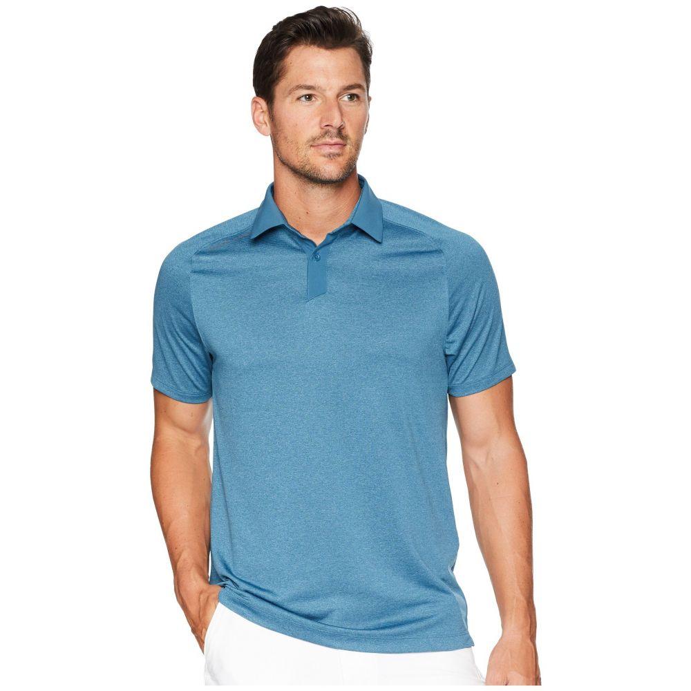 アンダーアーマー Under Armour Golf メンズ トップス ポロシャツ【Threadborne Polo】Static Blue Full Heather/Static Blue/Techno Teal