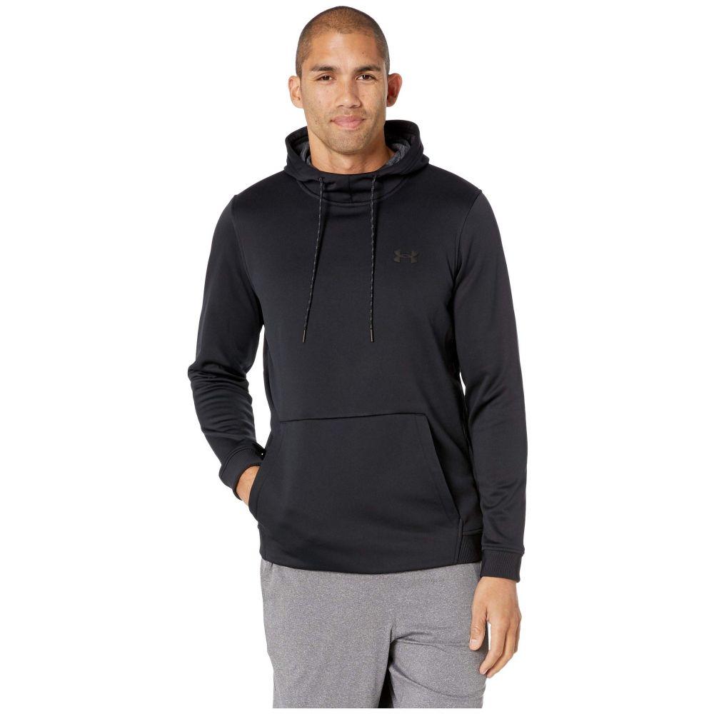アンダーアーマー Under Armour メンズ トップス フリース【Armour Fleece Pullover Hoodie】Black/Black