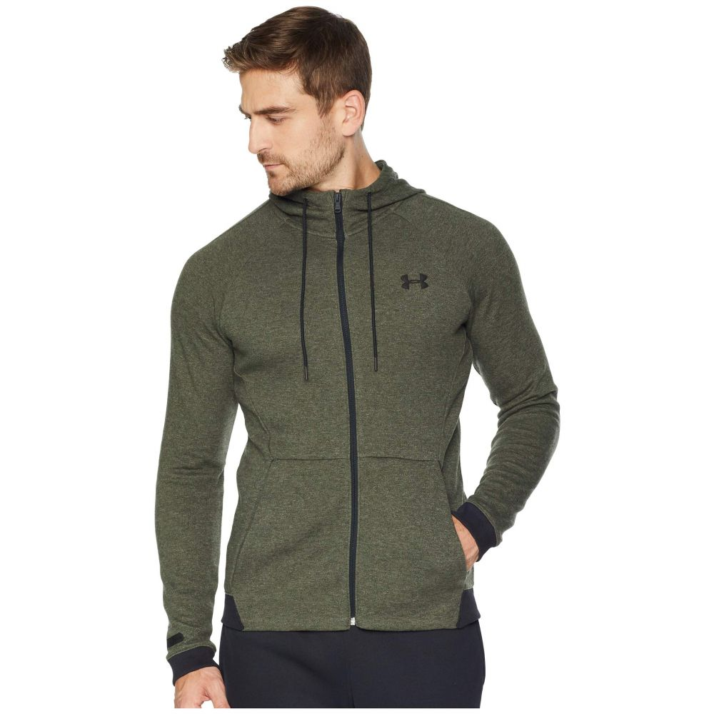 アンダーアーマー Under Armour メンズ トップス【Unstoppable 2X Knit Full Zip】Artillery Green/Black/Black