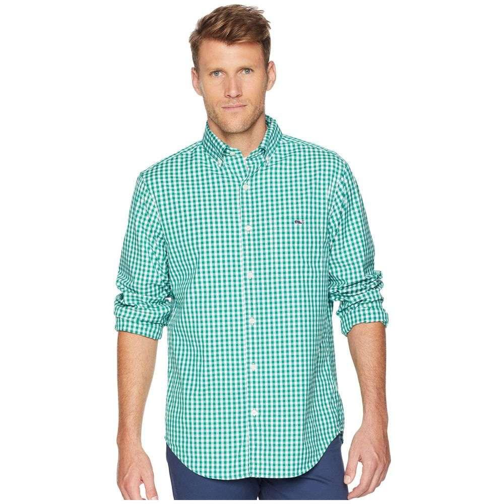 ヴィニヤードヴァインズ Vineyard Vines メンズ トップス シャツ【Carleton Gingham Classic Tucker Shirt】Green Meadow
