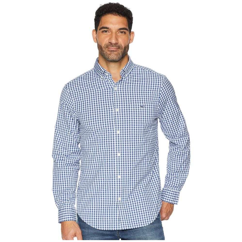 ヴィニヤードヴァインズ Vineyard Vines メンズ トップス シャツ【Carleton Gingham Classic Tucker Shirt】Moonshine
