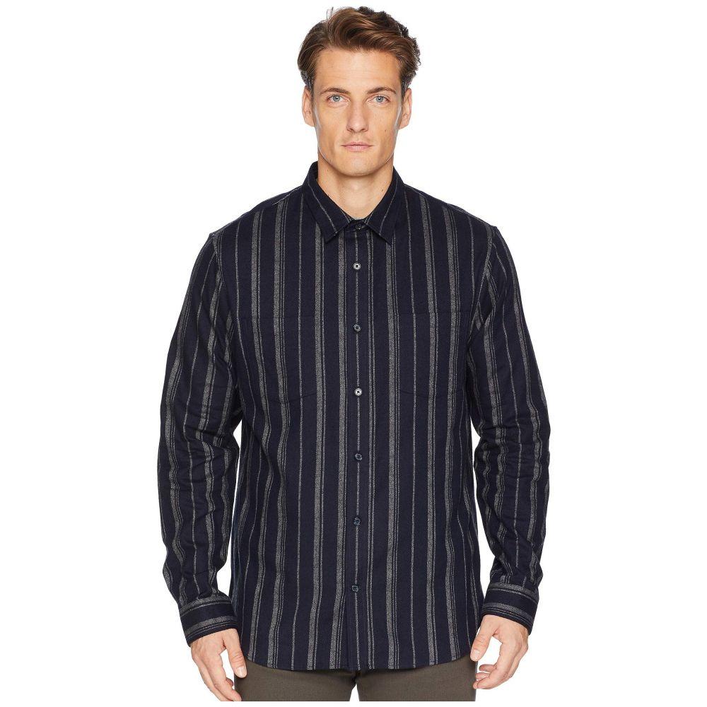 ヴィンス Vince メンズ トップス シャツ【Flannel Stripe Long Sleeve】Coastal