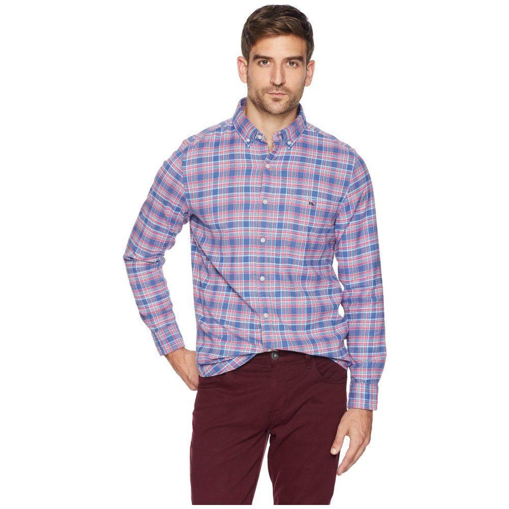 ヴィニヤードヴァインズ Vineyard Vines メンズ トップス シャツ【Lockwood Flannel Slim Tucker Shirt】Flag Blue