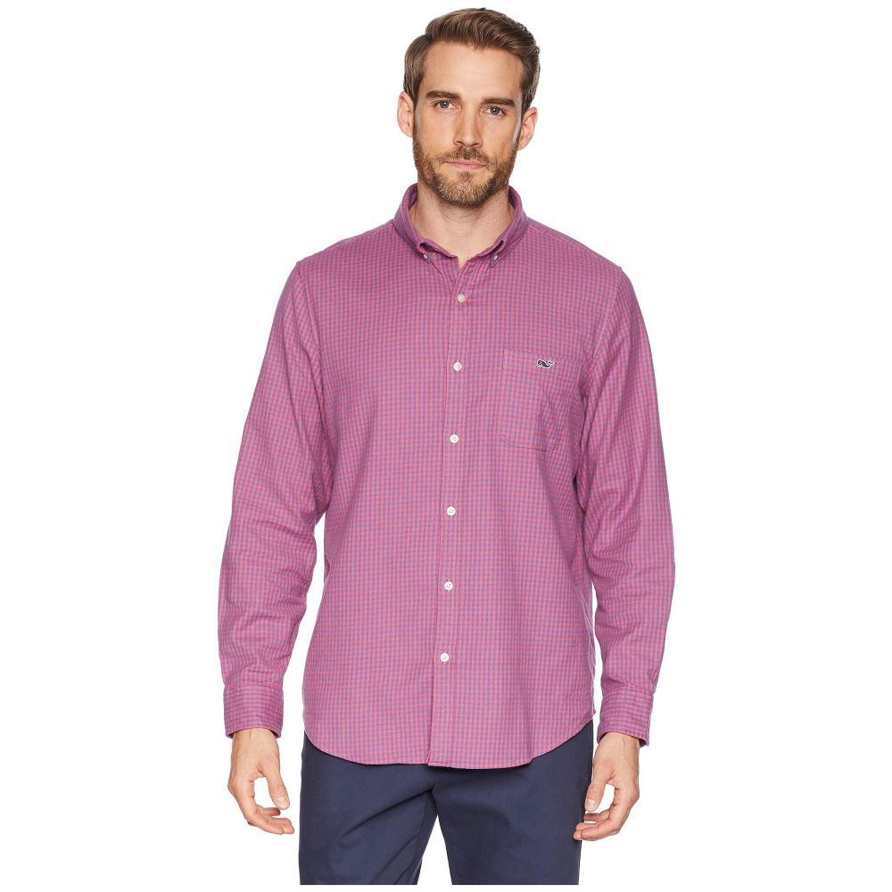 ヴィニヤードヴァインズ Vineyard Vines メンズ トップス シャツ【Tradewinds Flannel Slim Tucker Shirt】Sailors Red