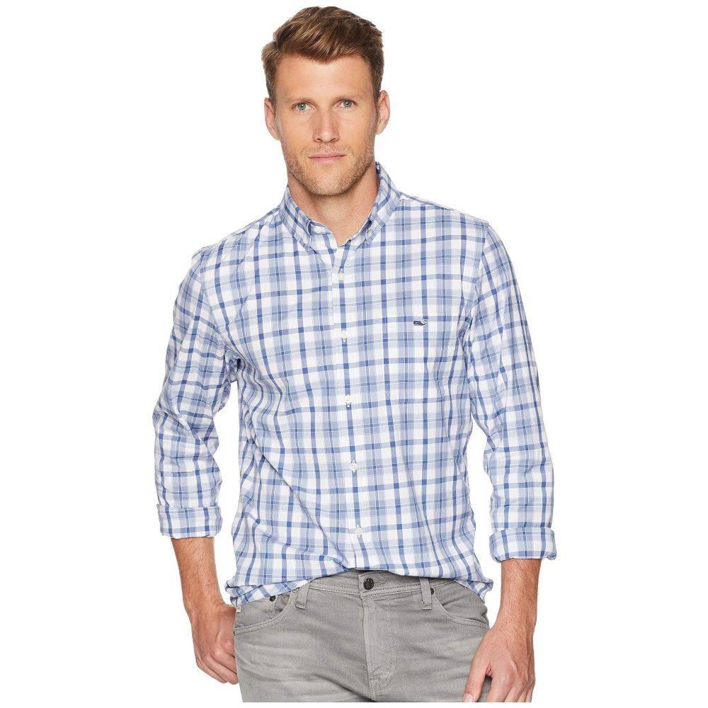 ヴィニヤードヴァインズ Vineyard Vines メンズ トップス シャツ【Deacon Plaid Slim Tucker Shirt】Summer Evening