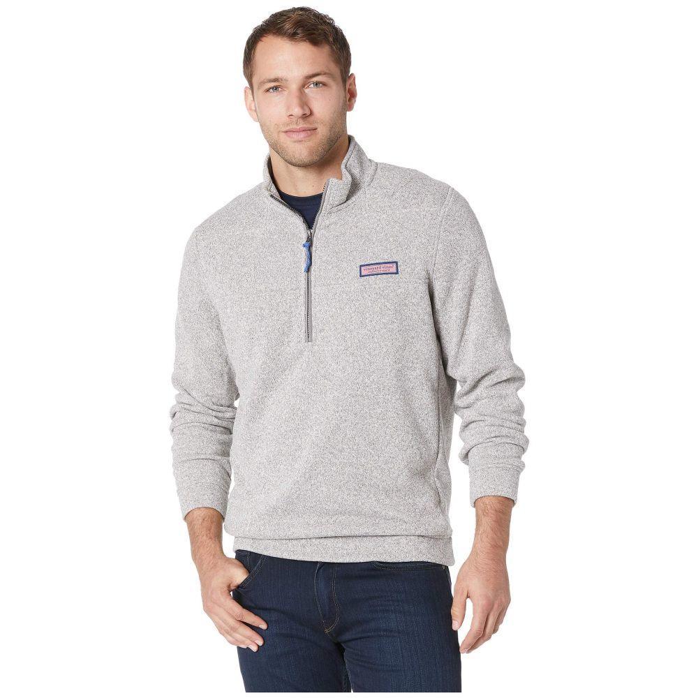 ヴィニヤードヴァインズ Vineyard Vines メンズ トップス フリース【Sweater Fleece Shep Shirt】Pebble