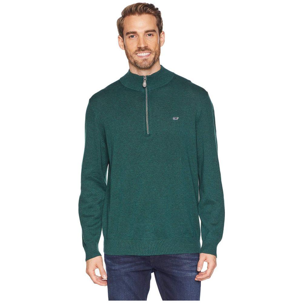 ヴィニヤードヴァインズ Vineyard Vines メンズ トップス ニット・セーター【Palm Beach 1/4 Zip Sweater】Charleston Green