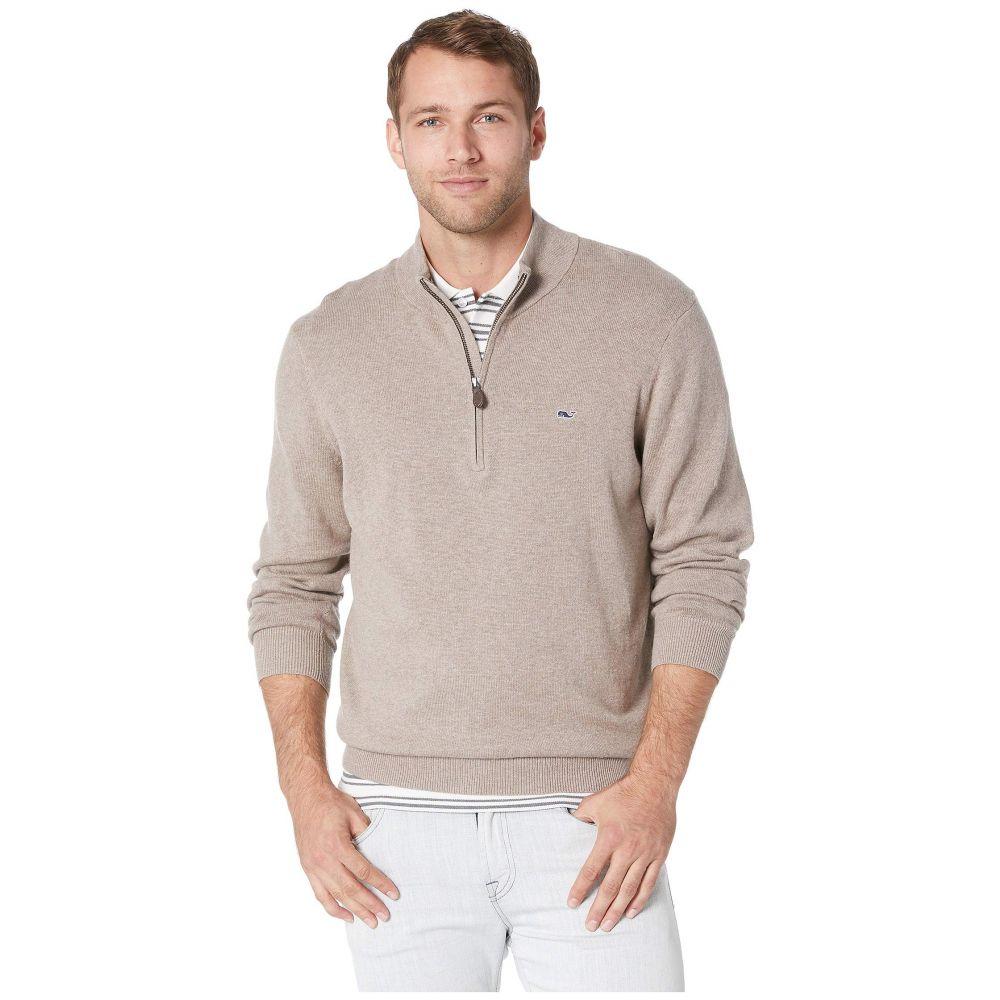 ヴィニヤードヴァインズ Vineyard Vines メンズ トップス ニット・セーター【Palm Beach 1/4 Zip Sweater】Harvest Tan