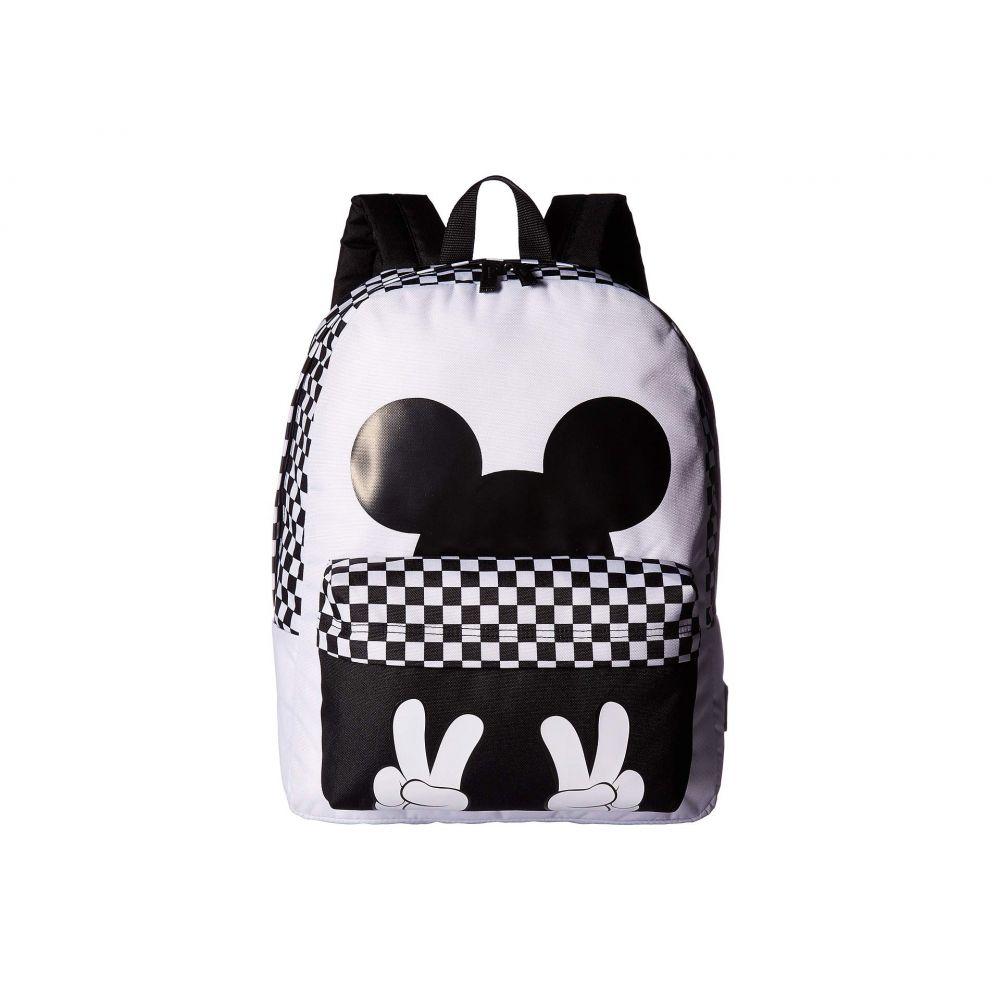 ヴァンズ Vans レディース バッグ バックパック・リュック【Mickey's 90th Checkerboard Mickey Realm Backpack】White/Black