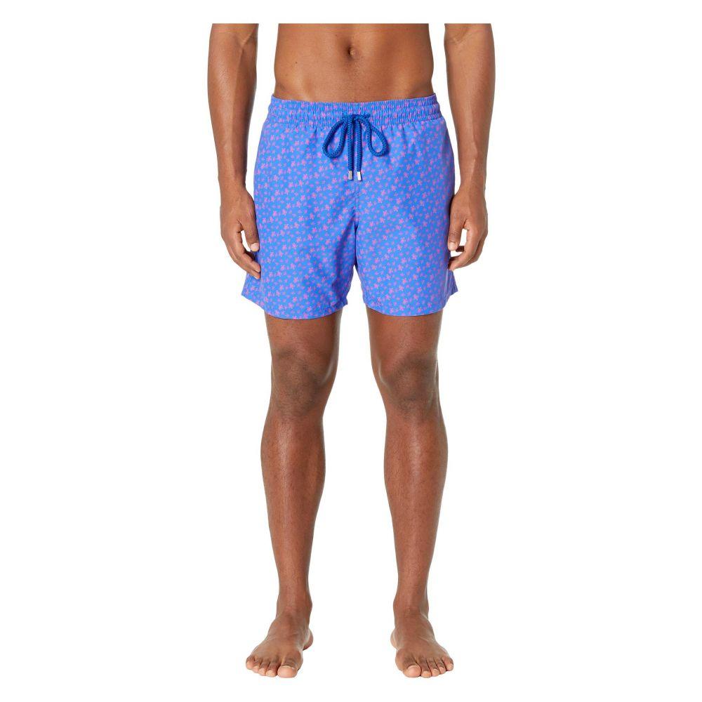 ヴィルブレクイン Vilebrequin メンズ 水着・ビーチウェア 海パン【Moorea Micro Ronde Des Tortues】Bleu De Mar