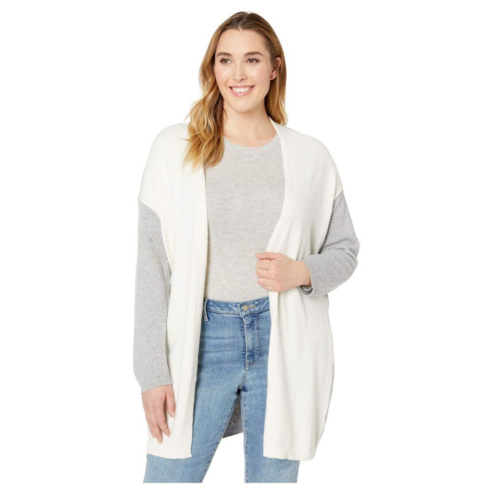 ヴィンス カムート Vince Camuto Specialty Size レディース トップス カーディガン【Plus Size Long Sleeve Color Block Cardigan】Antique White