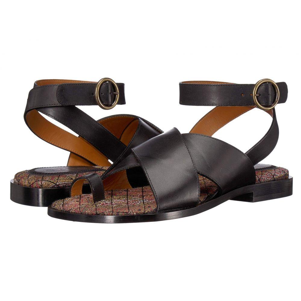 エトロ Etro レディース シューズ・靴 サンダル・ミュール【Leather Sandal】Black
