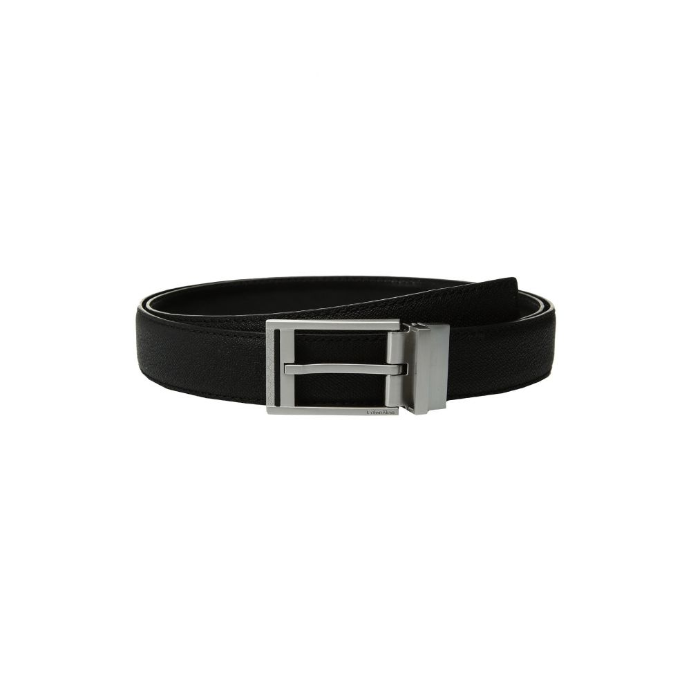 カルバンクライン Calvin Klein メンズ ベルト【32mm Textured To Smooth Reversible Belt】Black