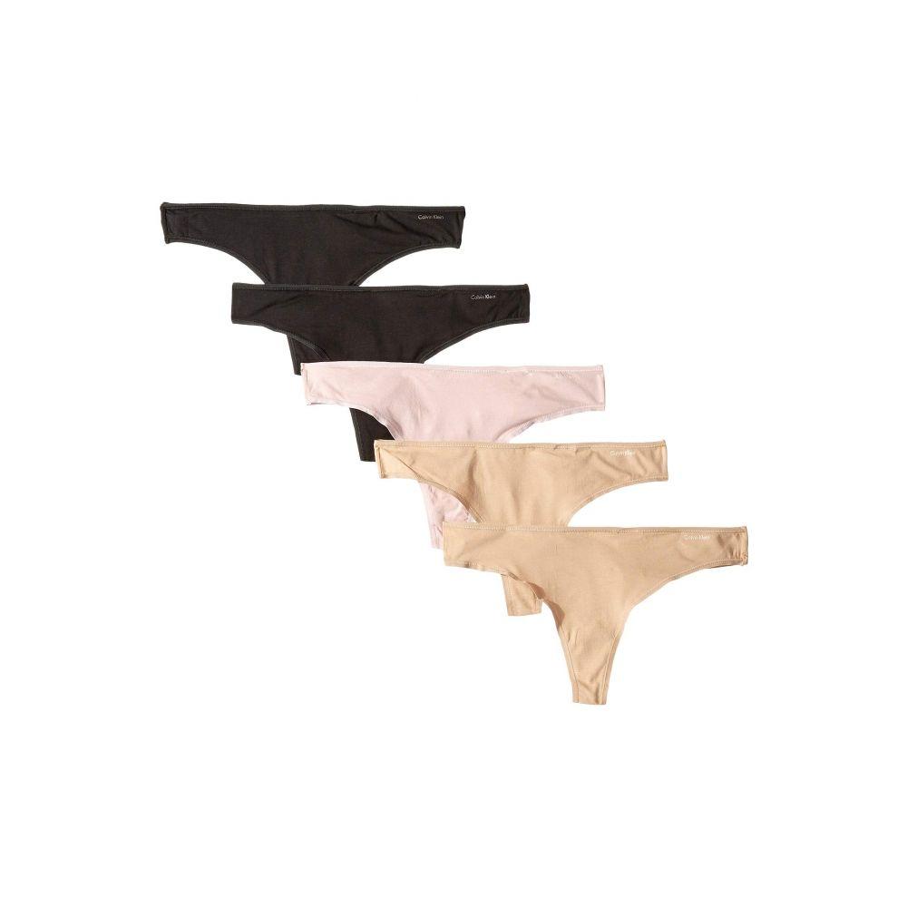カルバンクライン Calvin Klein Underwear レディース インナー・下着 ショーツのみ【5-Pack Form Thong】Black/Black/Bare/Bare/Connected