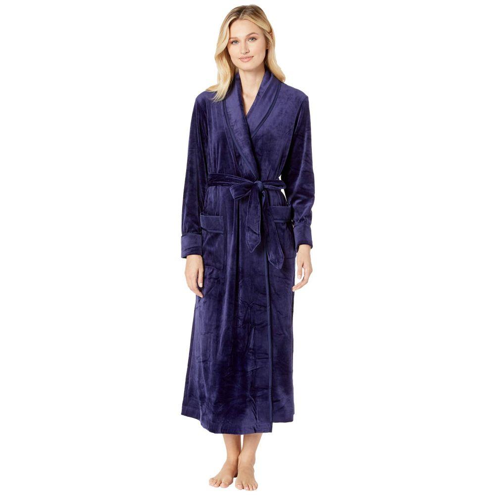 キャロル ホックマン Carole Hochman レディース インナー・下着 ガウン・バスローブ【Plush Luxe Velour Long Wrap Robe】Navy