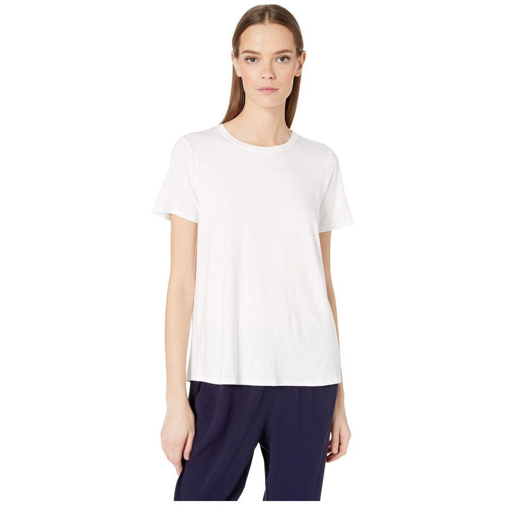 アイリーンフィッシャー Eileen Fisher レディース トップス Tシャツ【Roundneck Tee】White