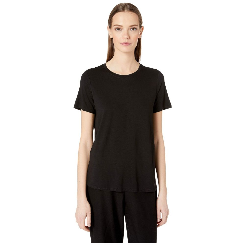 アイリーンフィッシャー Eileen Fisher レディース トップス Tシャツ【Roundneck Tee】Black