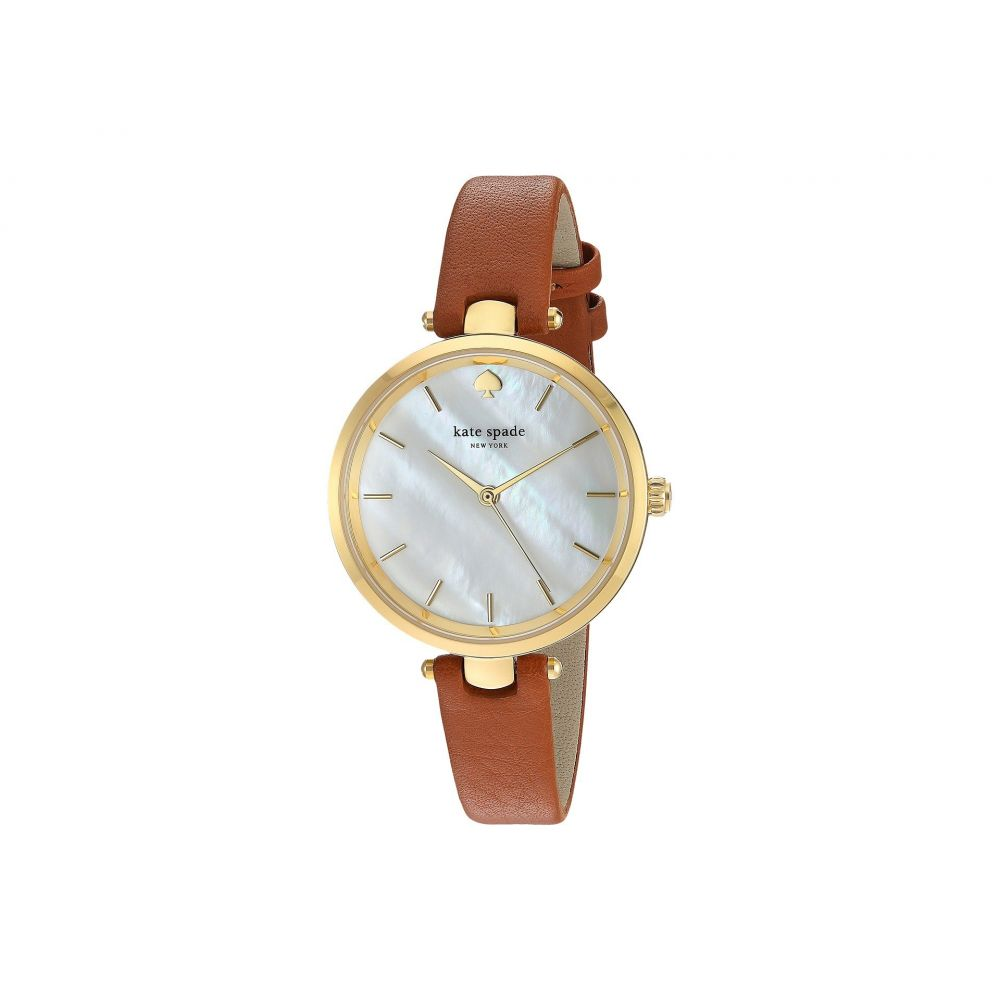 ケイト スペード Kate Spade New York レディース 腕時計【Holland Watch - KSW1156】Luggage/Gold