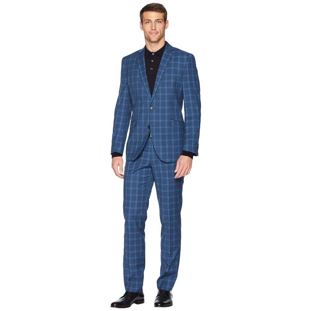 ケネス コール Kenneth Cole Reaction メンズ アウター スーツ・ジャケット【Unlisted Slim Fit Stretch 32' Finished Bottom Suit】Blue Plaid