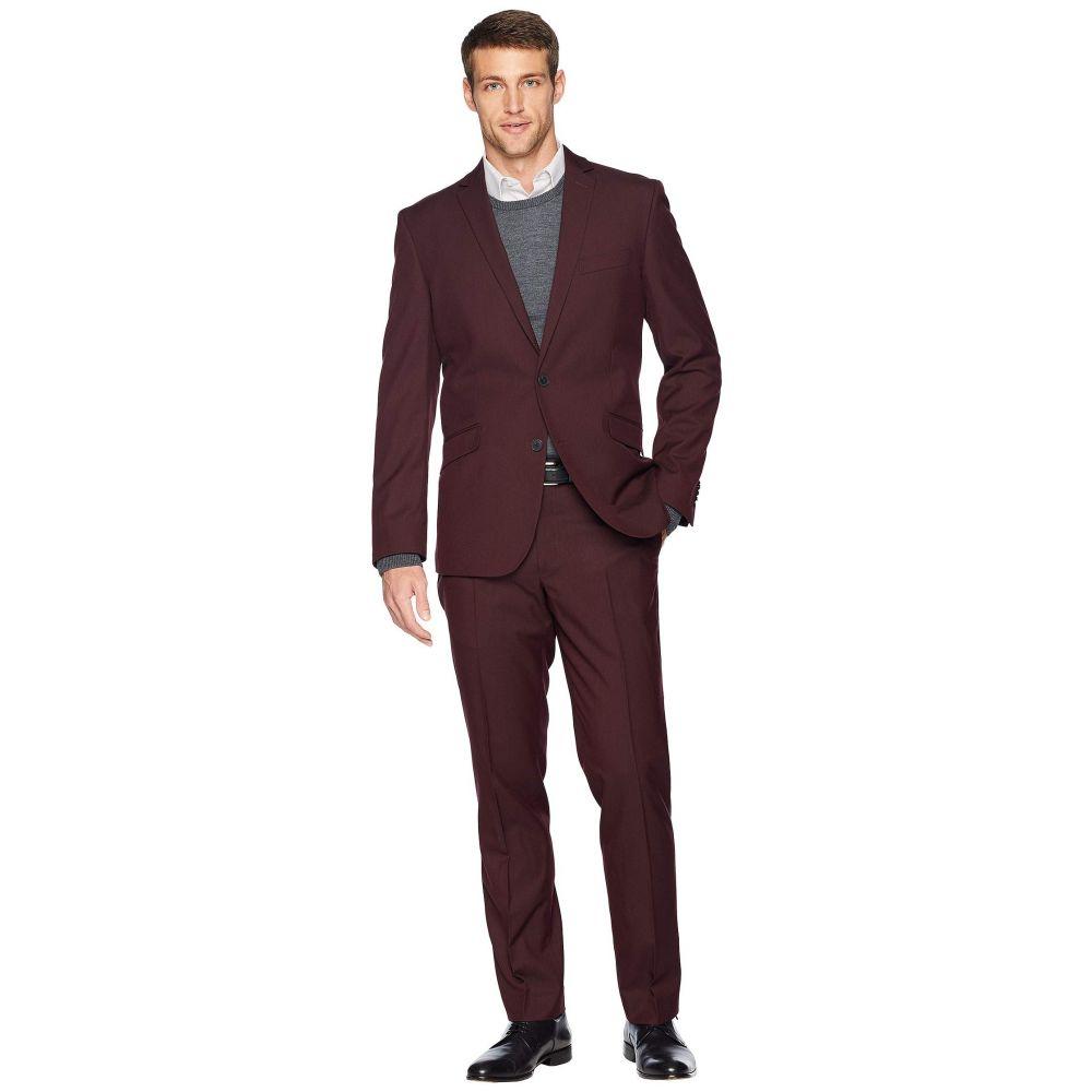 ケネス コール Kenneth Cole Reaction メンズ アウター スーツ・ジャケット【Unlisted Slim Fit Stretch 32' Finished Bottom Suit】Burgundy