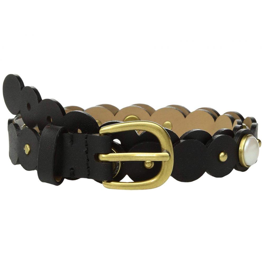ケイト スペード Kate Spade New York レディース ベルト【20 mm. 3/4' Scalloped Pearl Belt】Black