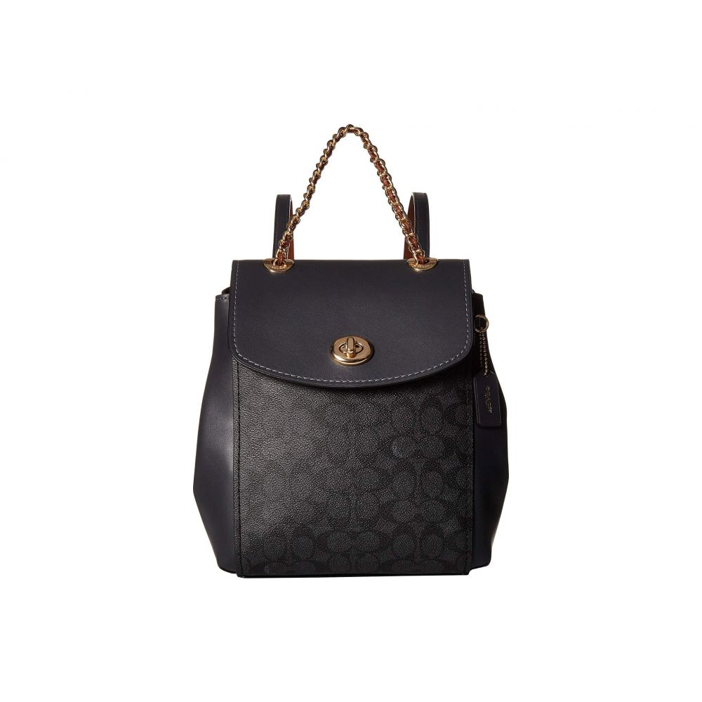 コーチ COACH レディース バッグ バックパック・リュック【Coated Canvas Signature Parker Backpack】Gold/Charcoal Midnight Navy