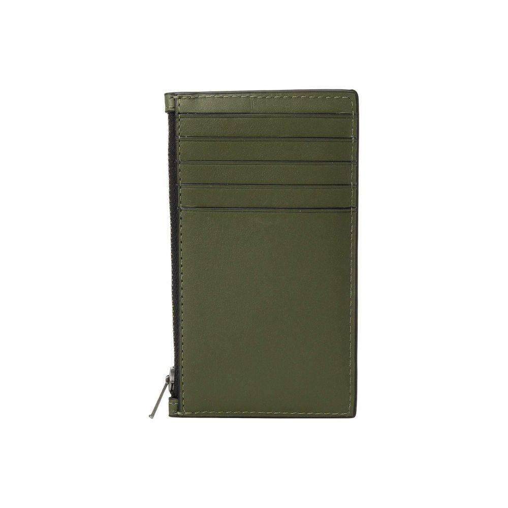コーチ COACH メンズ カードケース・名刺入れ【Zip Card Case in Refined Calf】Green