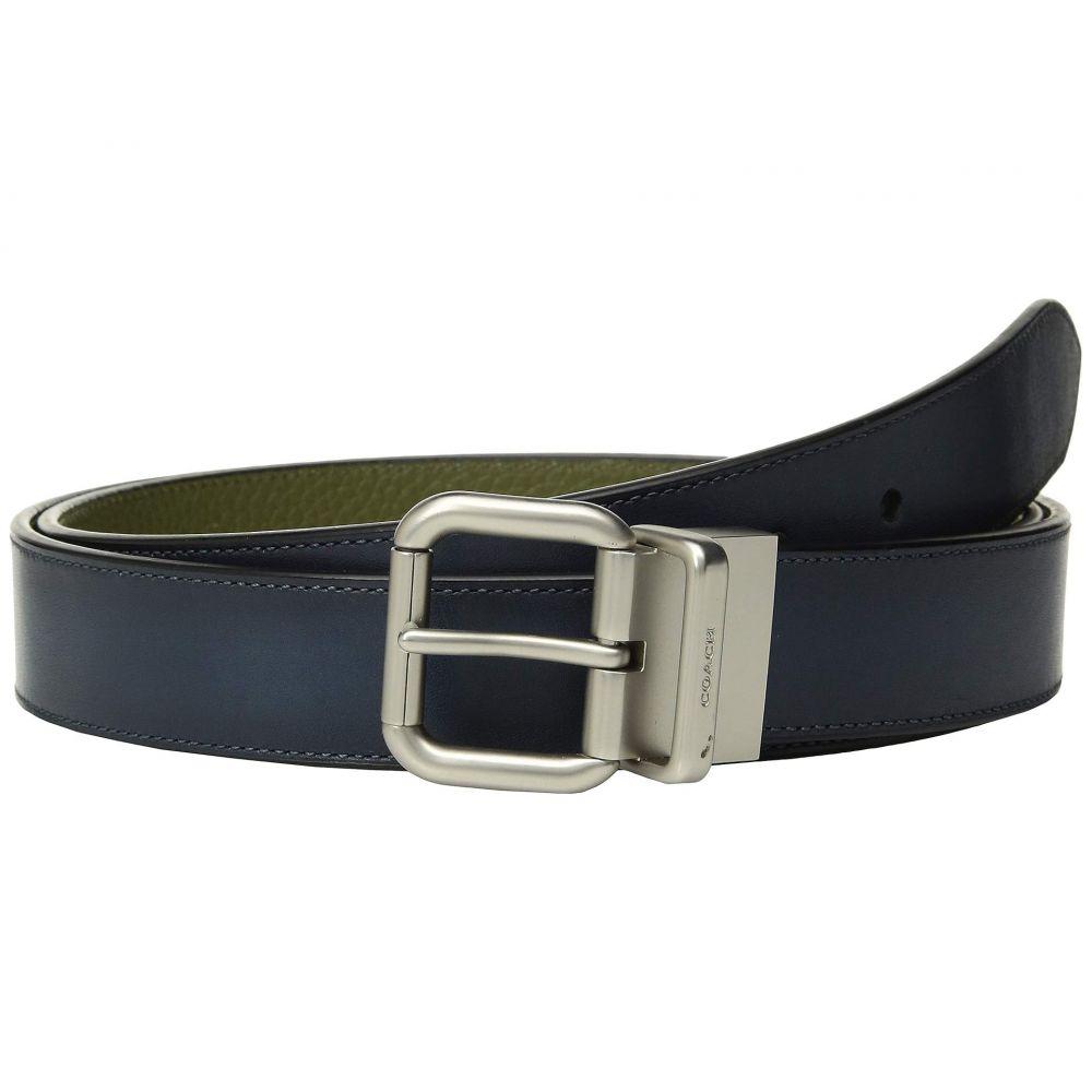 コーチ COACH メンズ ベルト【32 mm Jeans Buckle Cts/Reversible Burnished Leather Belt】Multi