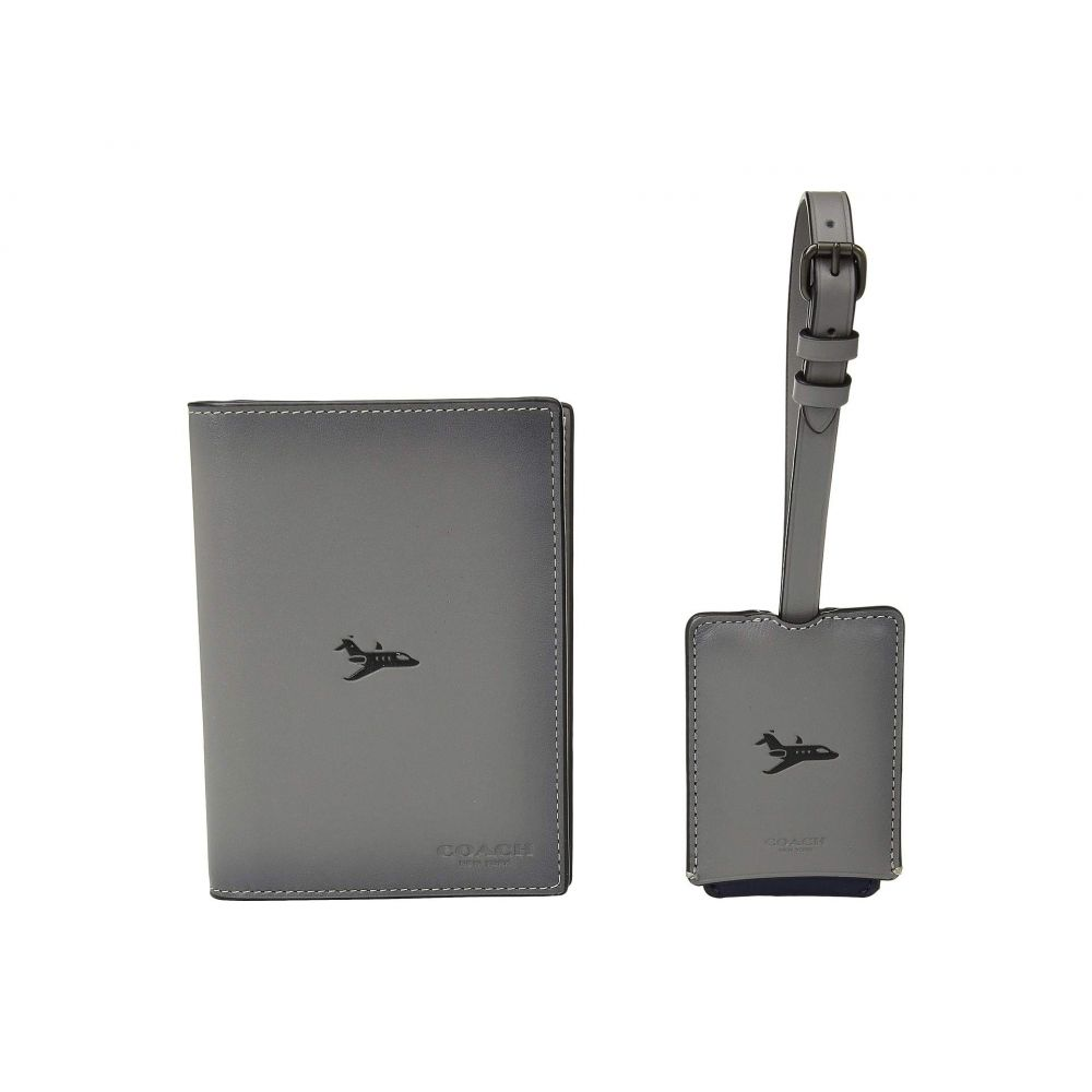 コーチ COACH メンズ パスポートケース【Boxed Passport Case and Luggage Tag Featuring Motif】Grey