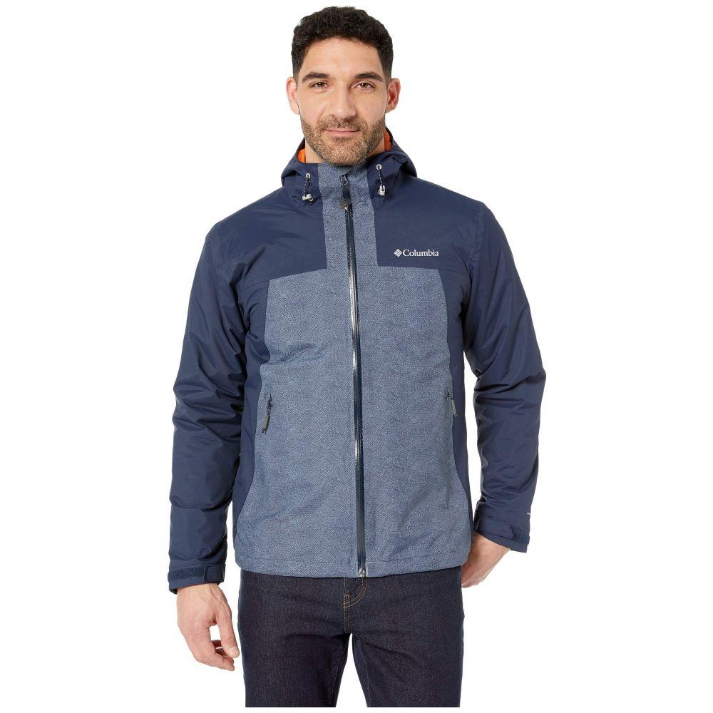 コロンビア Columbia メンズ アウター レインコート【Top Pine(TM) Insulated Rain Jacket】Collegiate navy/Mountain Maze Print/Desert Sun