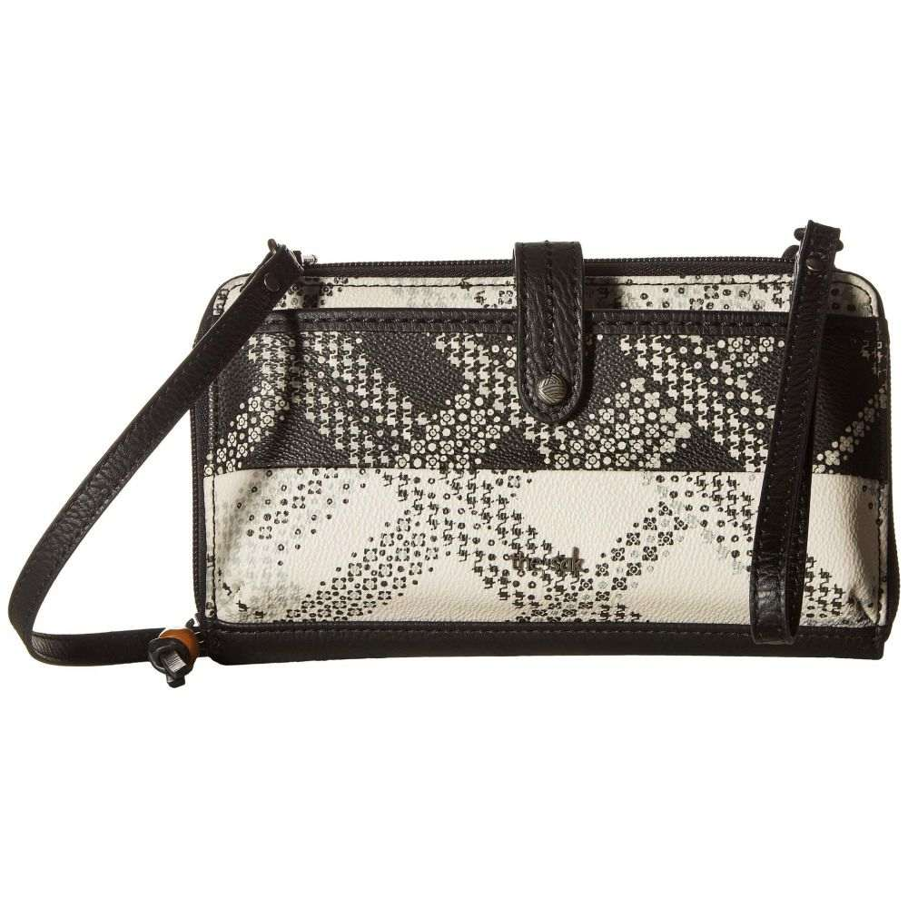ザ サク The Sak レディース スマホケース【Iris Large Smartphone Crossbody】Black/White Floral Plaid