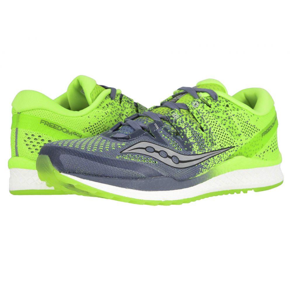 サッカニー Saucony メンズ ランニング・ウォーキング シューズ・靴【Freedom ISO】Grey/Slime