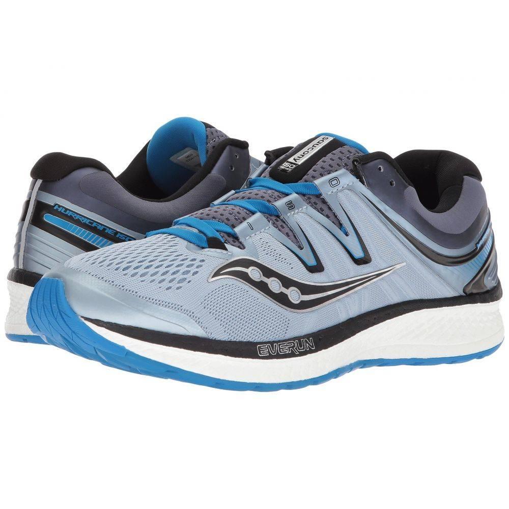 サッカニー Saucony メンズ ランニング・ウォーキング シューズ・靴【Hurricane ISO 4】Grey/Blue/Black