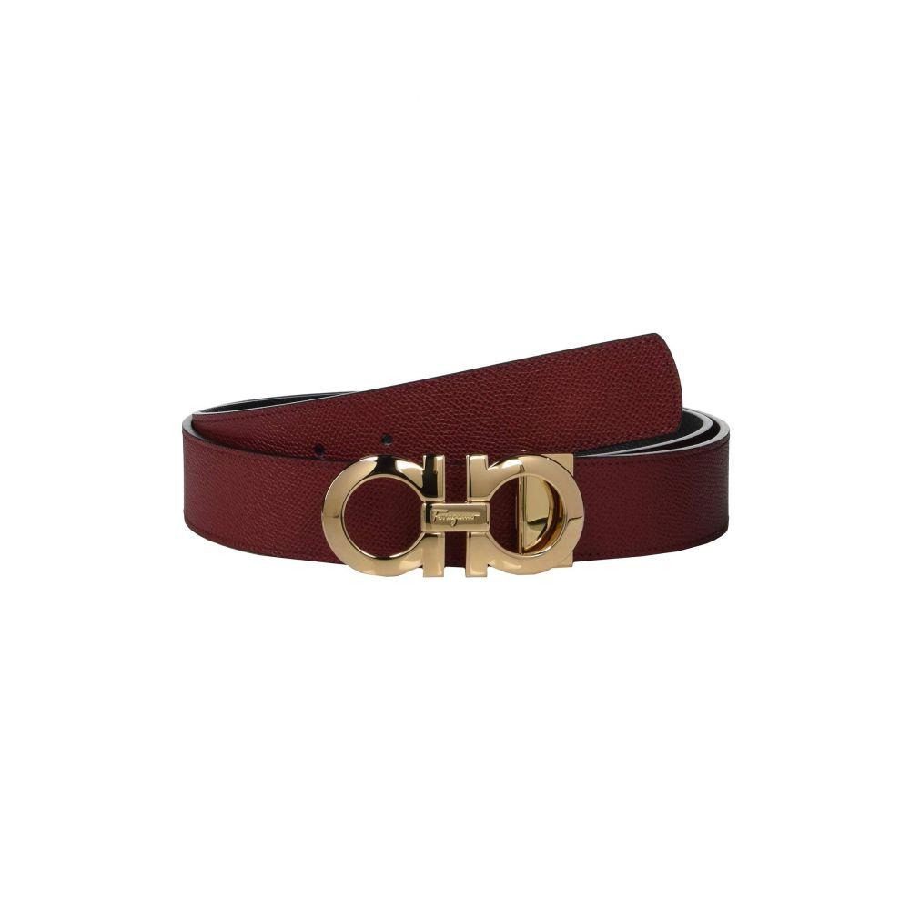 サルヴァトーレ フェラガモ Salvatore Ferragamo メンズ ベルト【Reversible/Adjustable Belt - 675542】Red/Black