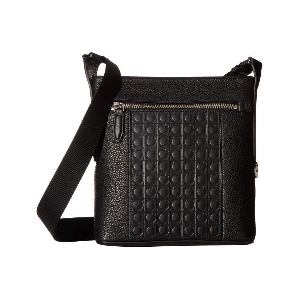 サルヴァトーレ フェラガモ Salvatore Ferragamo メンズ バッグ メッセンジャーバッグ【Firenze Gamma Small Messenger Bag - 240866】Black