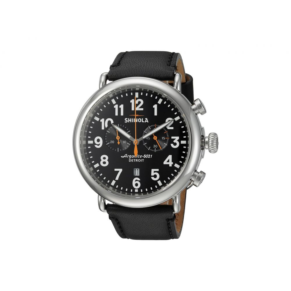 シャイノーラ Shinola Detroit メンズ 腕時計【The Runwell Chrono 47mm - 10000051】Black/Black