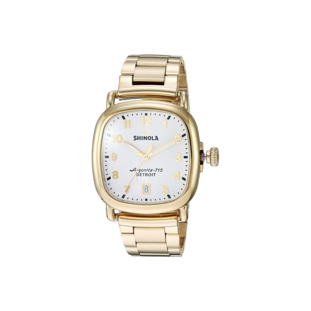 シャイノーラ Shinola Detroit レディース 腕時計【The Guardian 36mm - 20089895】Polished and Brushed PVD Gold Bracelet/White Dial