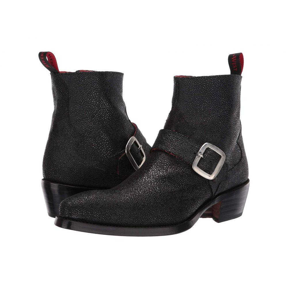 ジェフリー ウエスト Jeffery-West メンズ シューズ・靴 ブーツ【Rebel Troubadour Buckle Biker Boot】Manta Ray Black