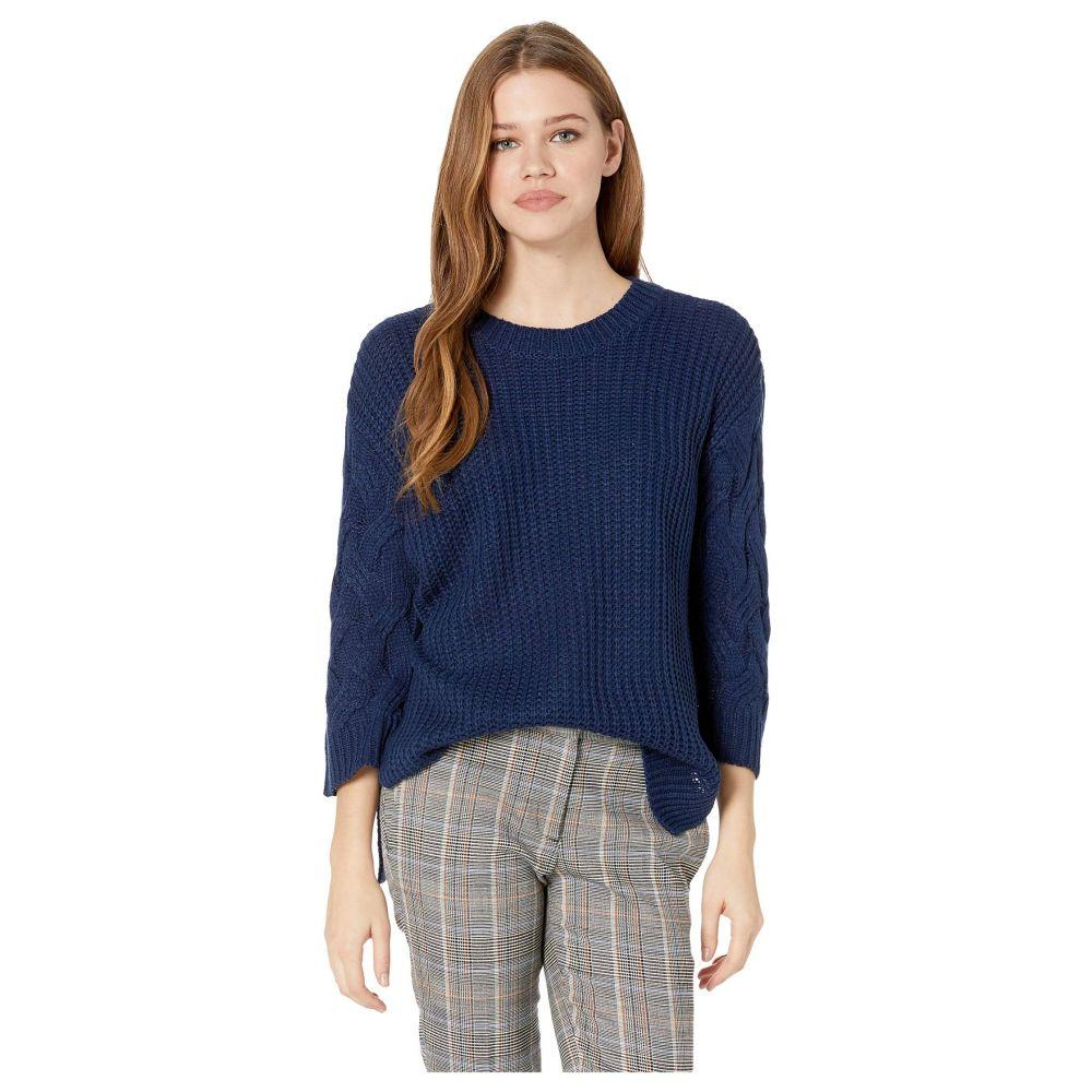 ジャック バイ ビービーダコタ Jack by BB Dakota レディース トップス ニット・セーター【We've Got Cable Soft Sweater with Cable Knit Sleeves】Dark Blue