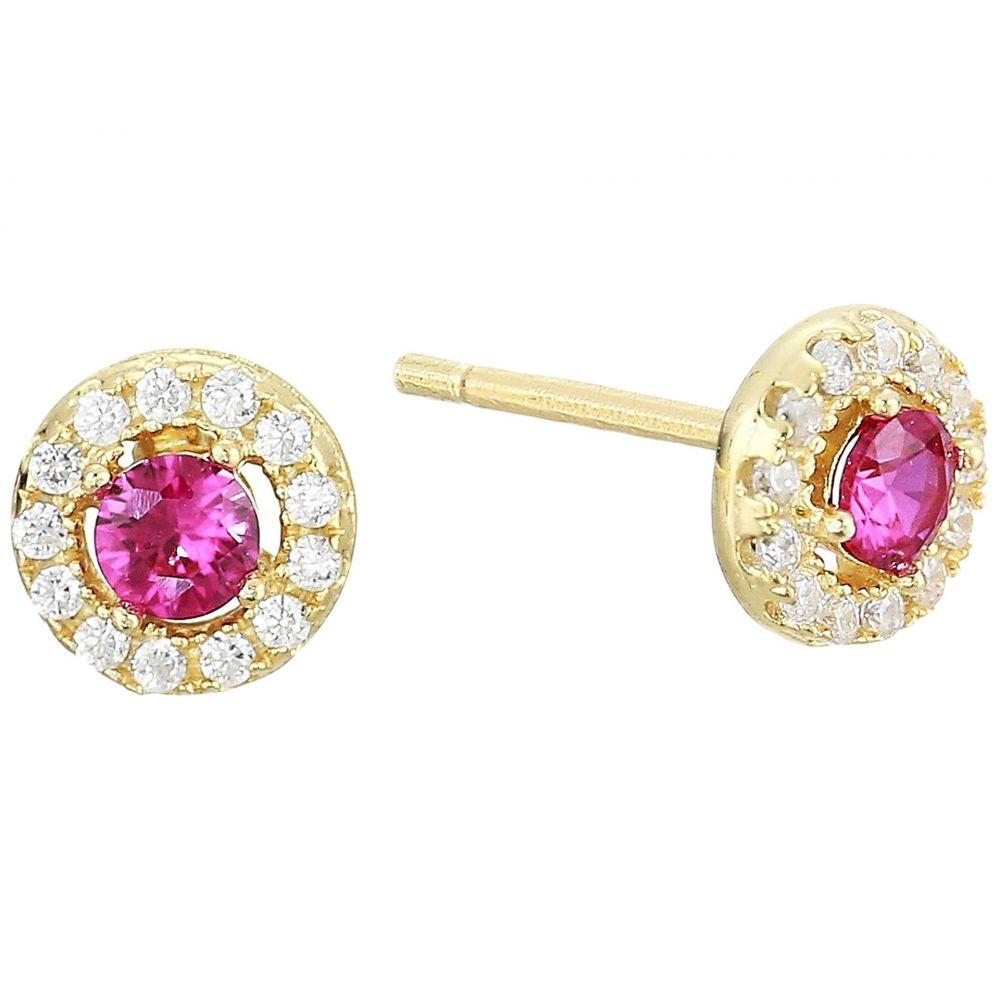 シャシ SHASHI レディース ジュエリー・アクセサリー イヤリング・ピアス【Pia Pave Stud Earrings】Yellow Gold/Ruby