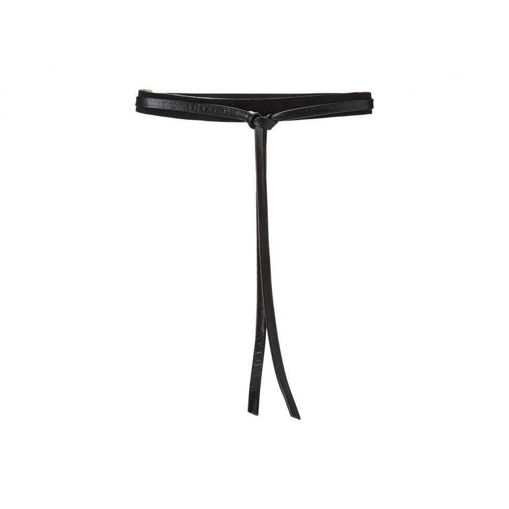 アダ ADA Collection レディース ベルト【Skinny Wrap Belt】Black Suede