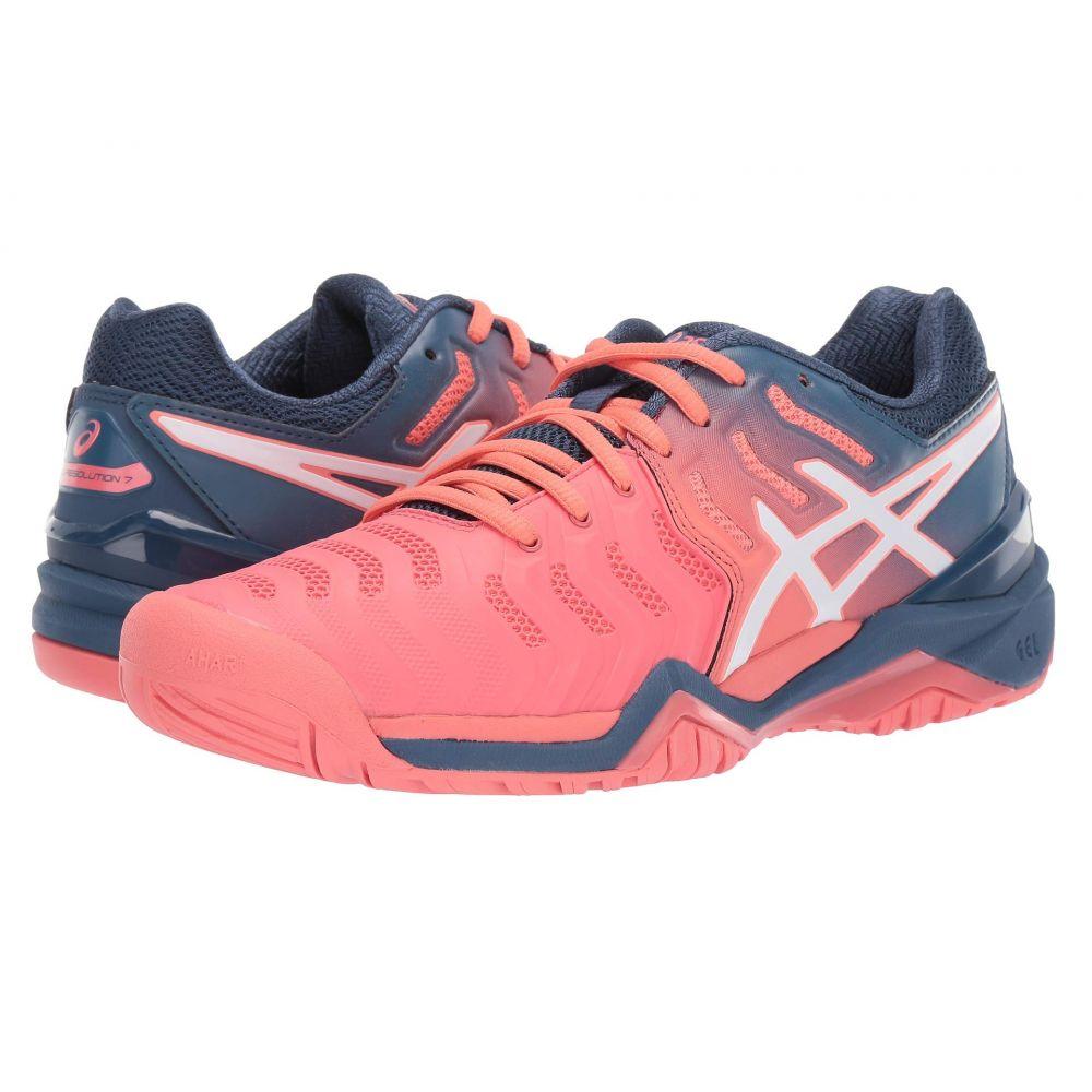 アシックス ASICS レディース テニス シューズ・靴【Gel-Resolution 7】Papaya/White