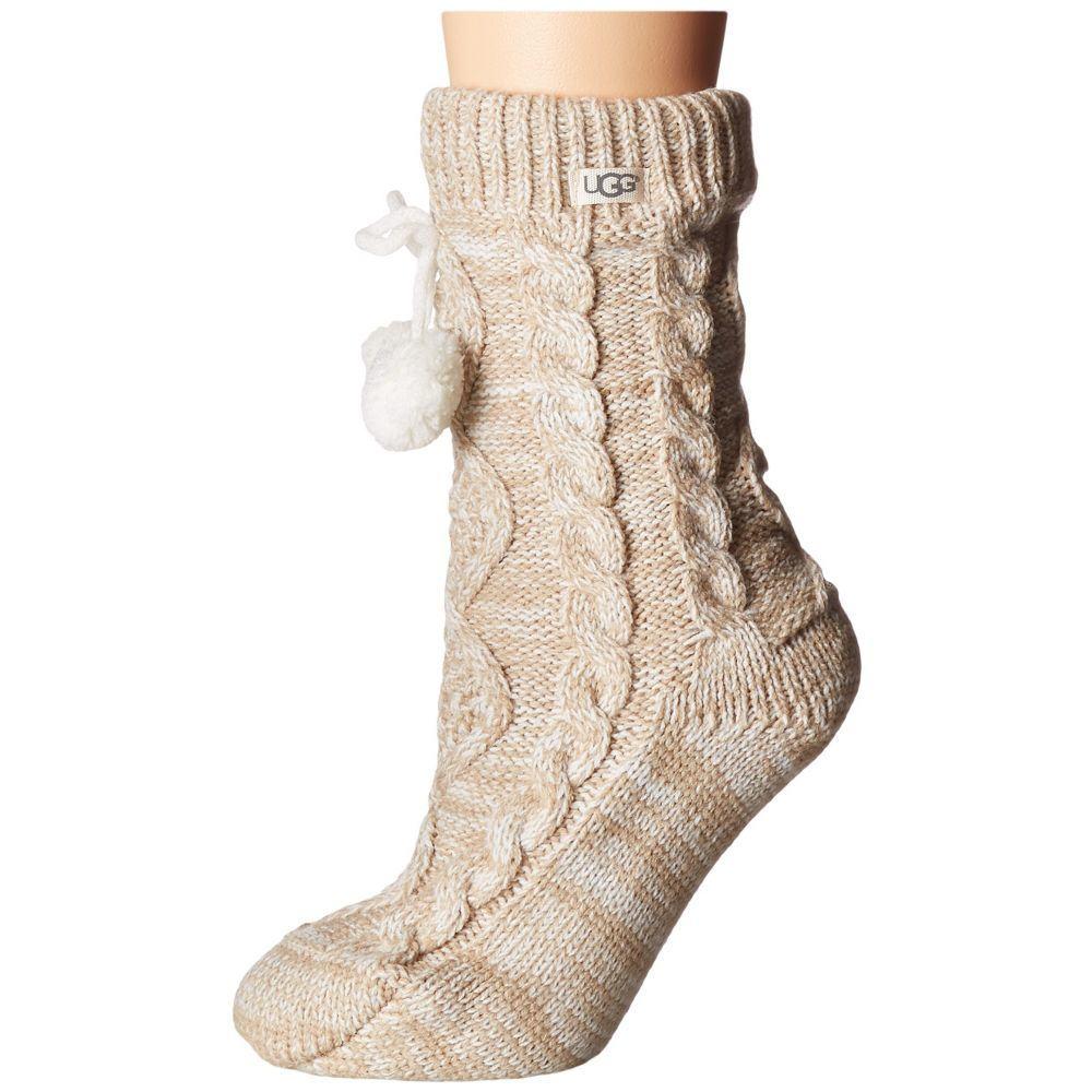 【半額】 アグ UGG レディース インナー・下着 ソックス【Pom Pom Fleece Lined Crew Sock】Cream, ルモイシ 304bdfe3