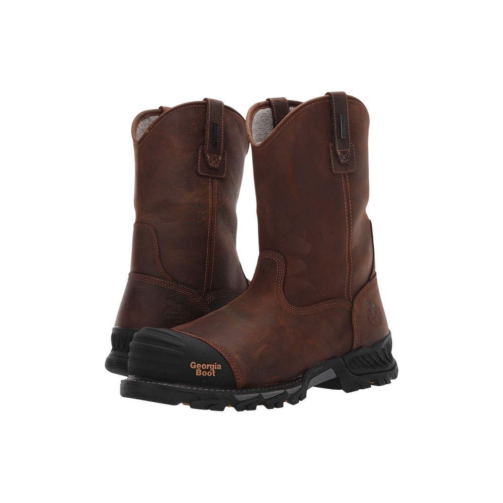 ジョージアブーツ Georgia Boot メンズ シューズ・靴 ブーツ【Rumbler 10' Composite Toe Pull-On】Brown